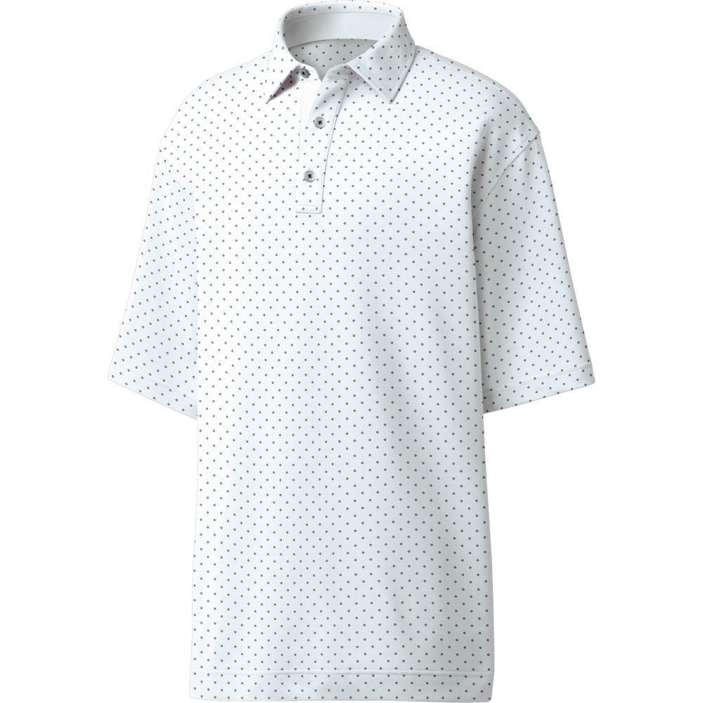 フットジョイ FootJoy メンズ ゴルフ ポロシャツ トップス【Lisle Diamond Print Golf Polo】White/Navy