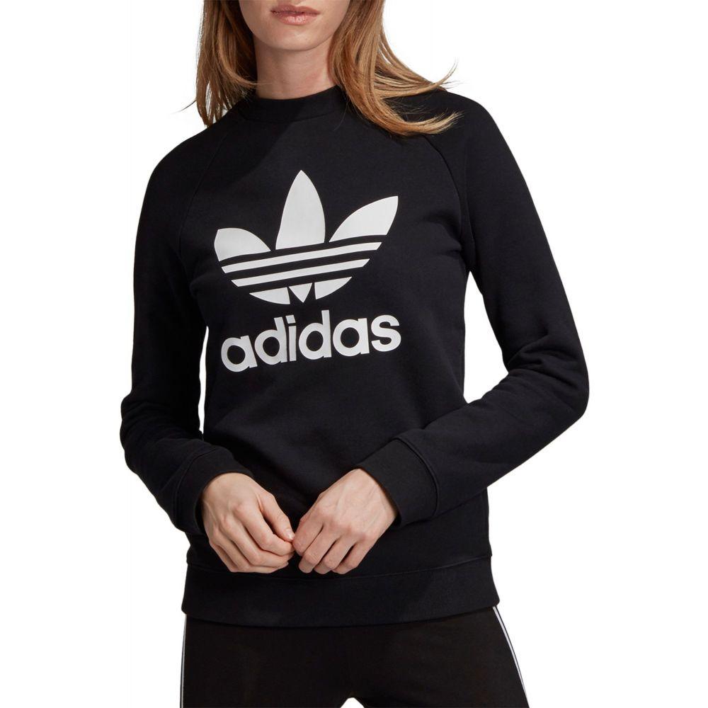 アディダス adidas レディース スウェット・トレーナー トップス【Originals Trefoil Crew Sweatshirt】Black