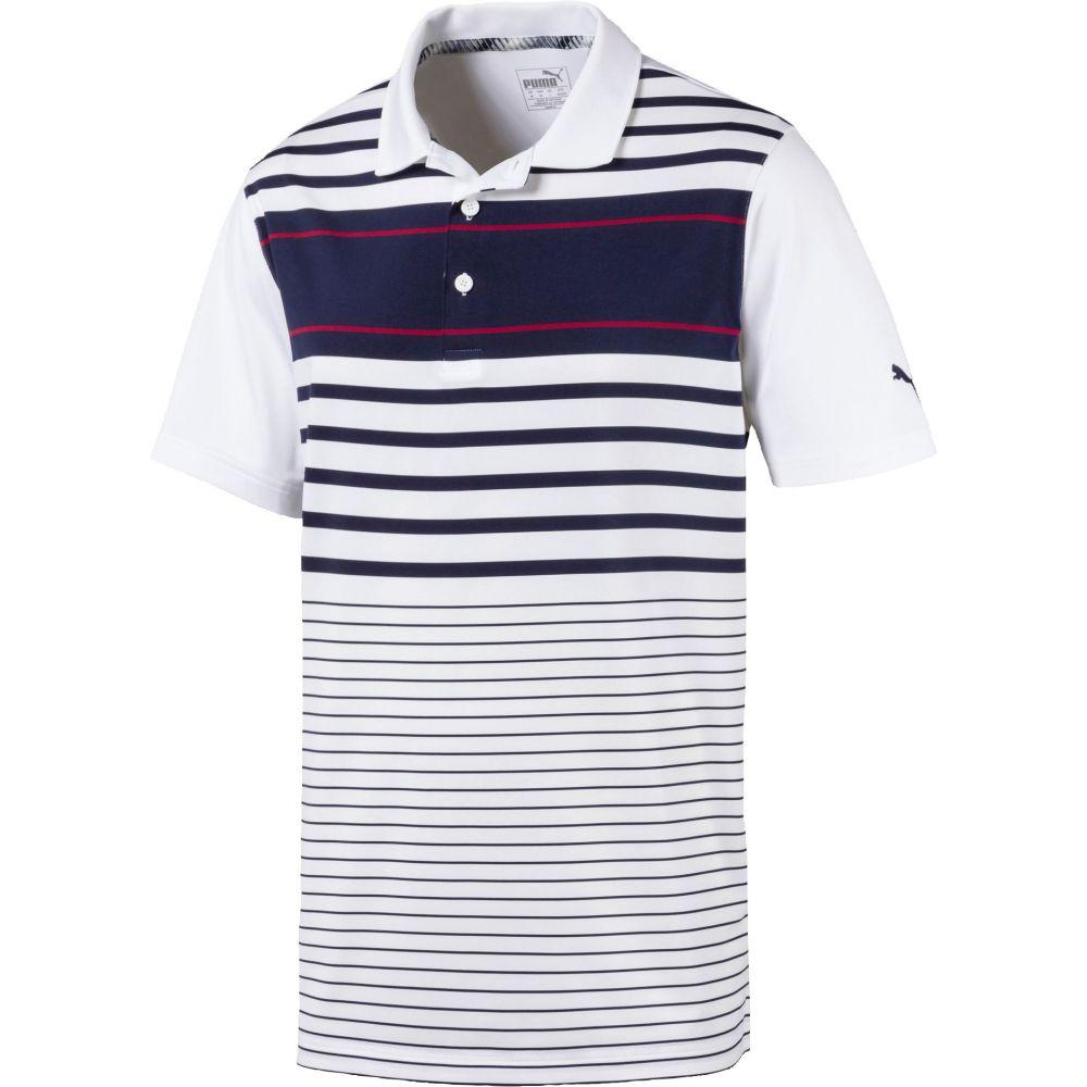 プーマ PUMA メンズ ゴルフ ポロシャツ トップス【Spotlight Golf Polo】Peacoat/Rhubarb