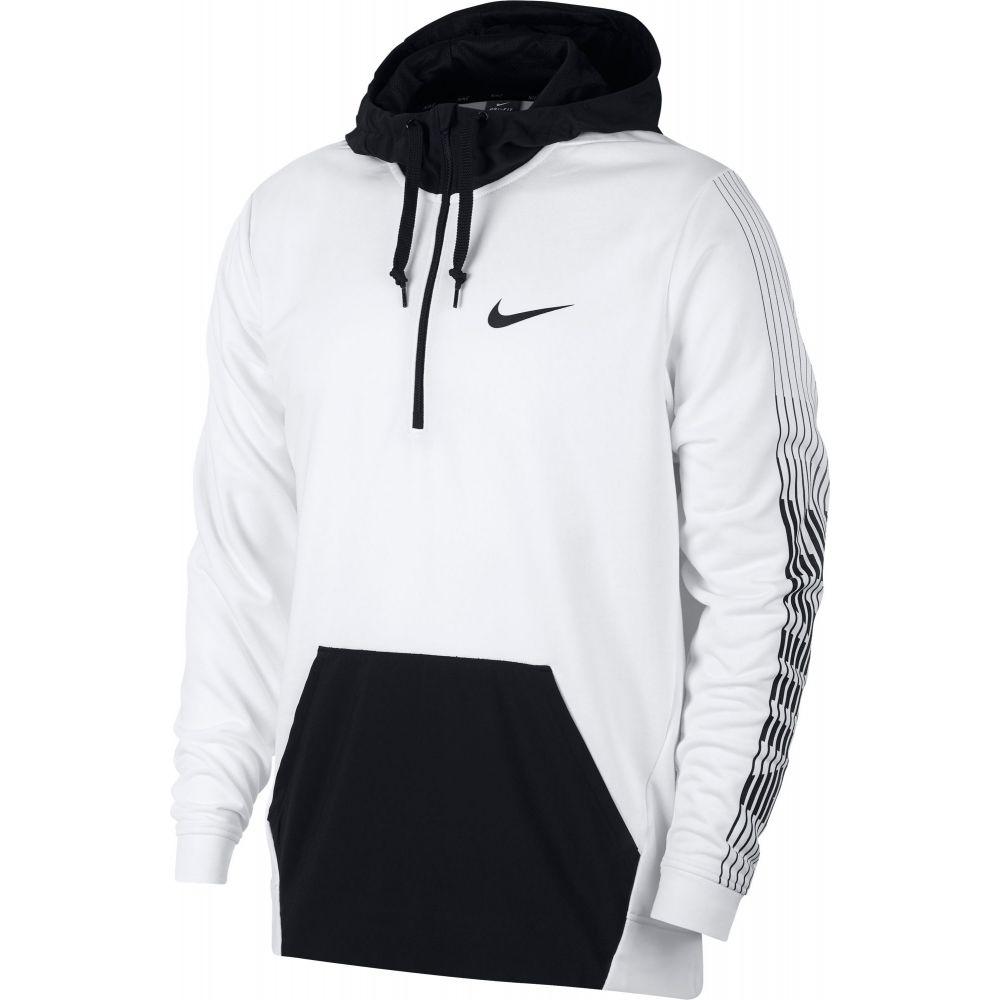 ナイキ Nike メンズ フィットネス・トレーニング パーカー トップス【Dry Fleece Training Hoodie】White/Black/Black