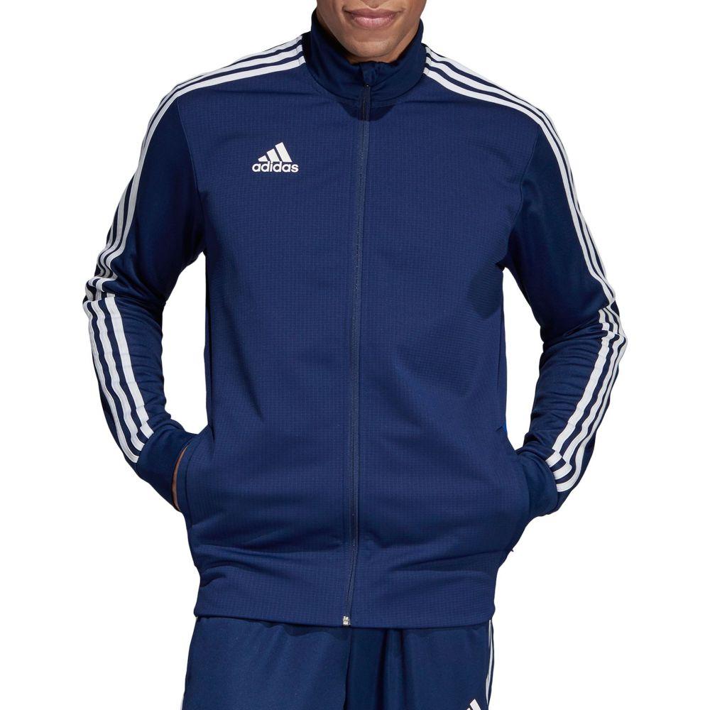 アディダス adidas メンズ フィットネス・トレーニング ジャケット アウター【Tiro 19 Training Jacket】Dark Blue/Bold Blue/White