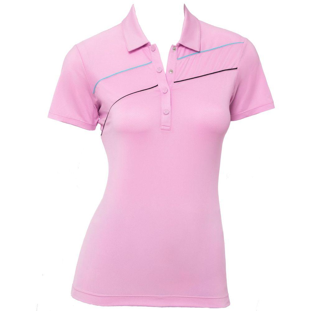 EPNY レディース ゴルフ 半袖 トップス【EP Pro Textured Short Sleeve Golf Polo】Pink Sands Multi