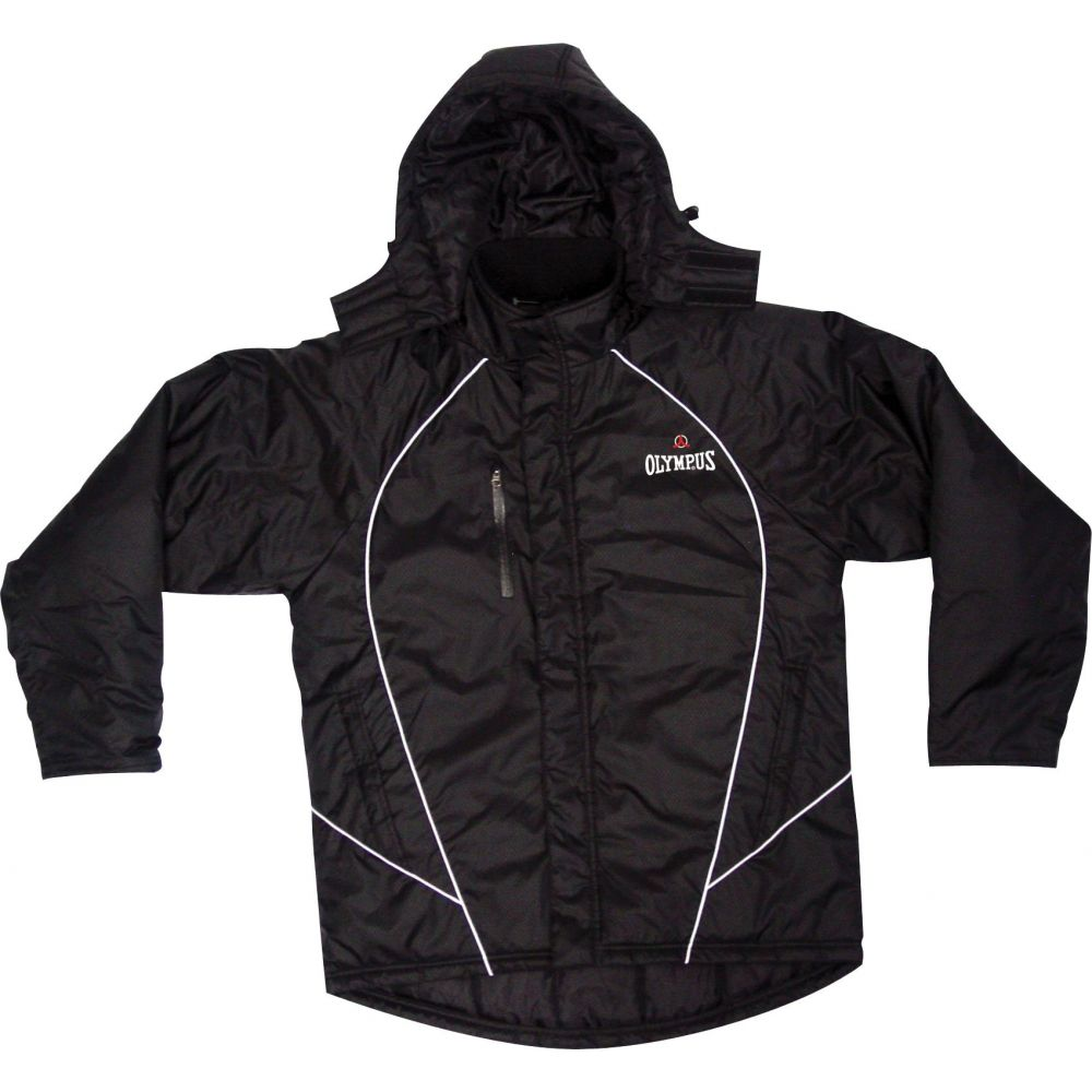 オリンパス OLYMPUS メンズ ジャケット スタジャン アウター【Olympus Adult Stadium Rugby Jacket】Black/White