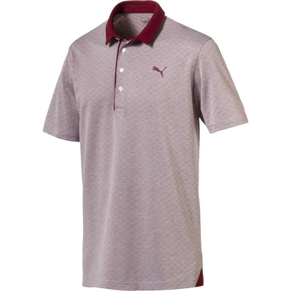 プーマ PUMA メンズ ゴルフ ポロシャツ トップス【Diamond Jacquard Golf Polo】Pomegranate Heather