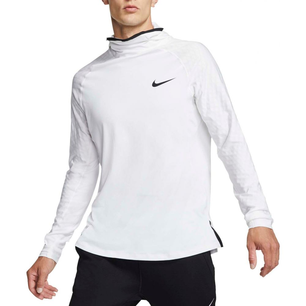 ナイキ Nike メンズ トップス 【Pro Utility Therma Long Sleeve Shirt】White/Black