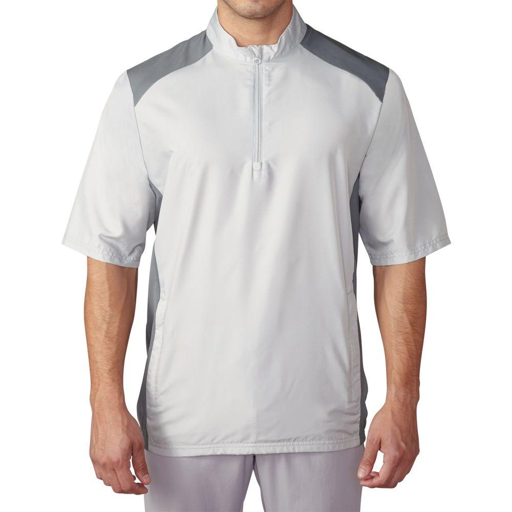 アディダス adidas メンズ ゴルフ ウィンドブレーカー アウター【Club Short Sleeve Golf Wind Jacket】Stone