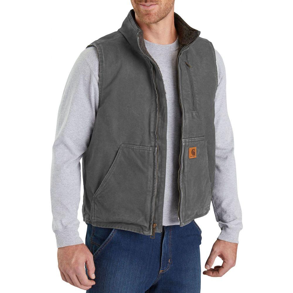 カーハート Carhartt メンズ ベスト・ジレ トップス【Sandstone Mock Neck Vest (Regular and Big & Tall)】Gravel