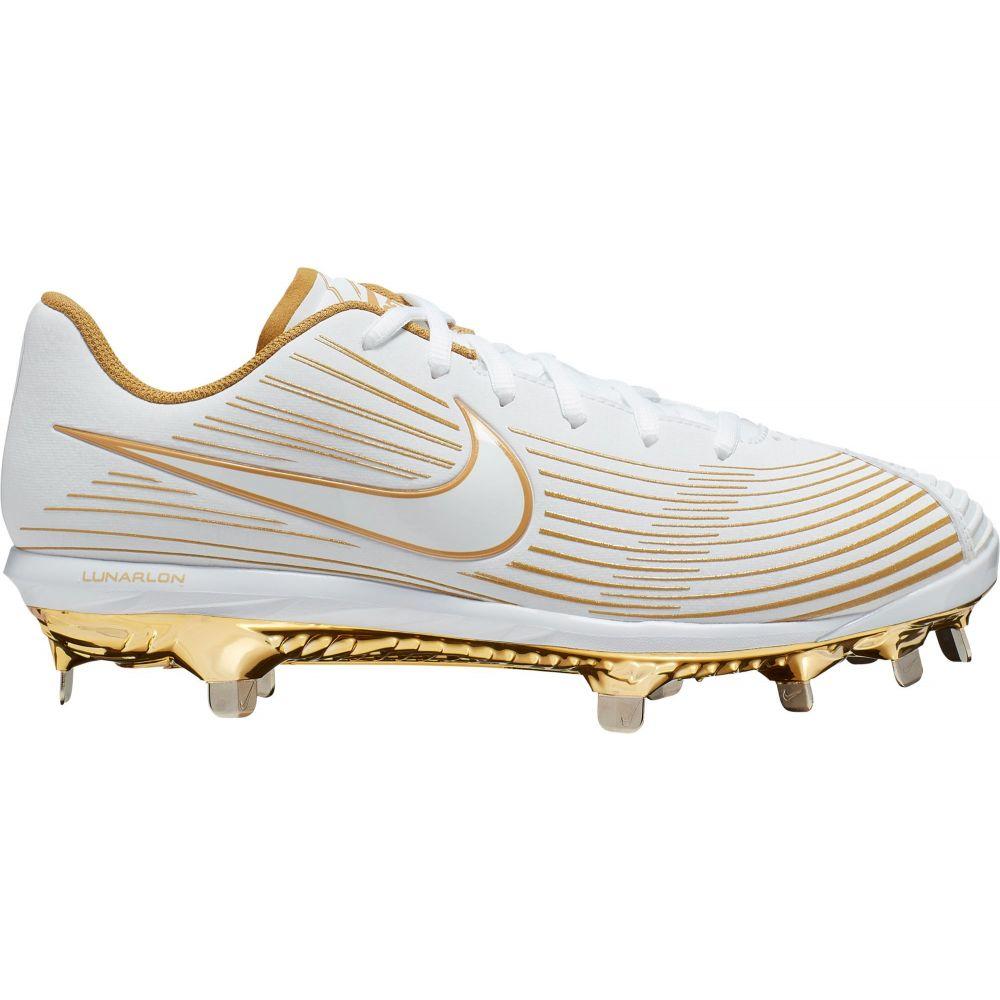 ナイキ Nike レディース 野球 スパイク シューズ・靴【Lunar Hyperdiamond 3 Pro Metal Fastpitch Softball Cleats】White/Gold