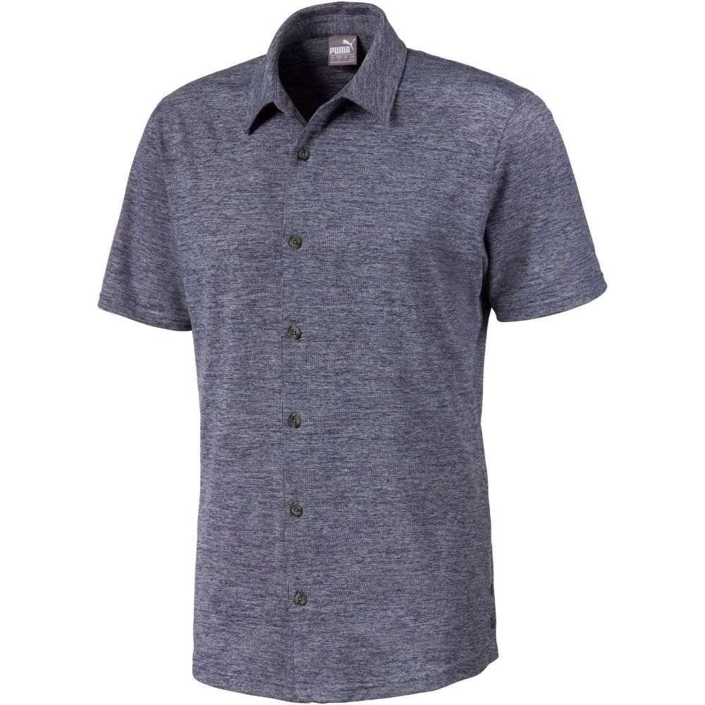 プーマ PUMA メンズ ゴルフ トップス【Easy Living Button Down Golf Shirt】Peacoat Heather