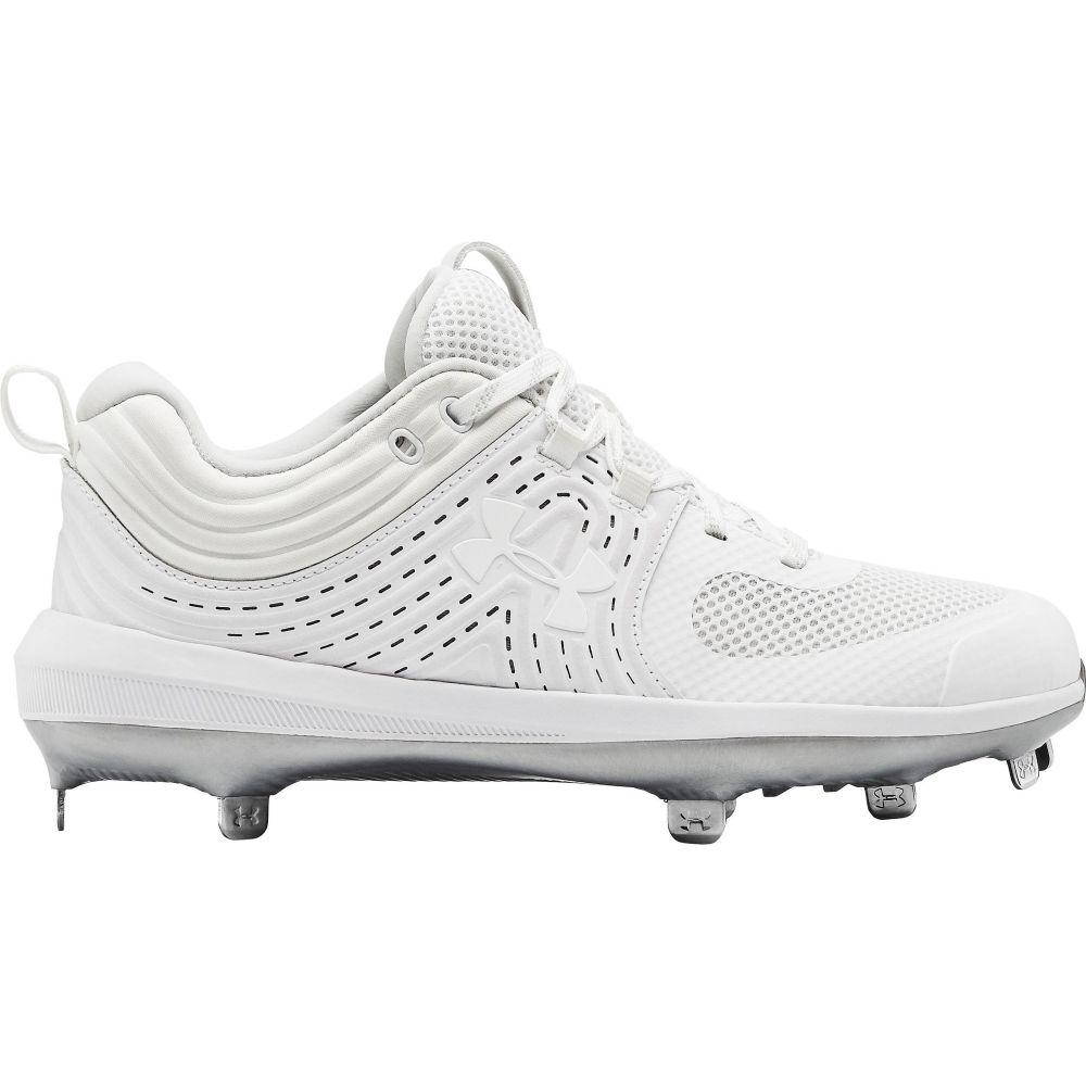 アンダーアーマー Under Armour レディース 野球 スパイク シューズ・靴【Glyde Metal Fastpitch Softball Cleats】White/White