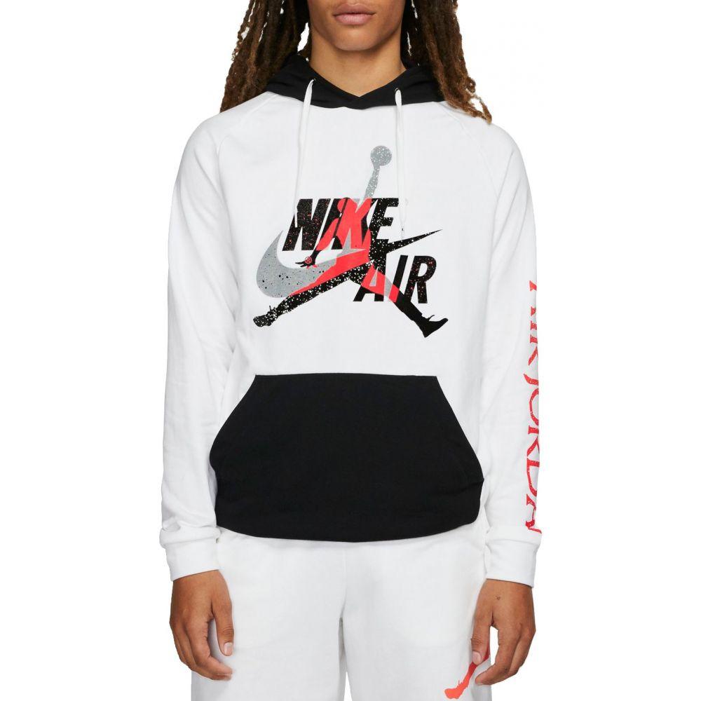 ナイキ ジョーダン Jordan メンズ フリース ジャンプマン トップス【Jumpman Classics Lightweight Fleece Pullover】White/Black