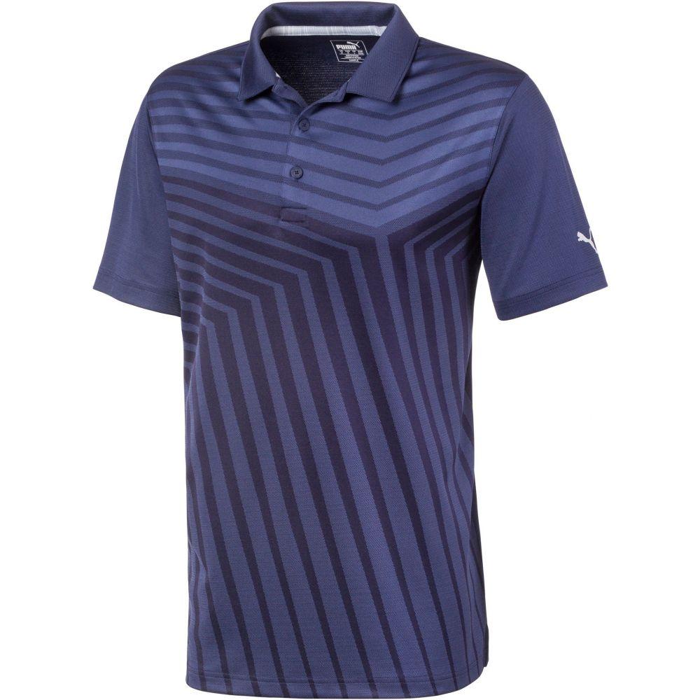 プーマ メンズ ゴルフ トップス 【サイズ交換無料】 プーマ PUMA メンズ ゴルフ ポロシャツ トップス【Alterknit Reflection Golf Polo】Peacoat