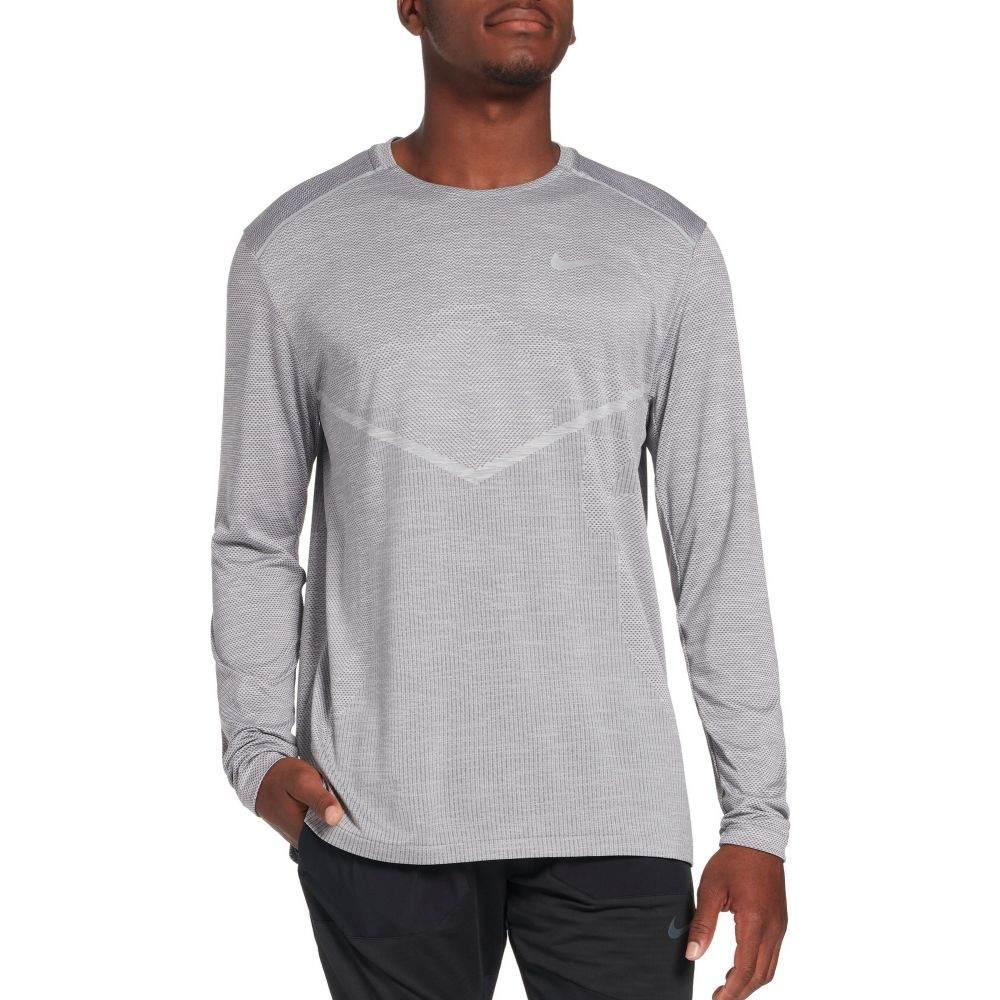 ナイキ Nike メンズ ランニング・ウォーキング トップス【TechKnit Ultra Running Long Sleeve Shirt】Gunsmoke/Atmosphere Grey