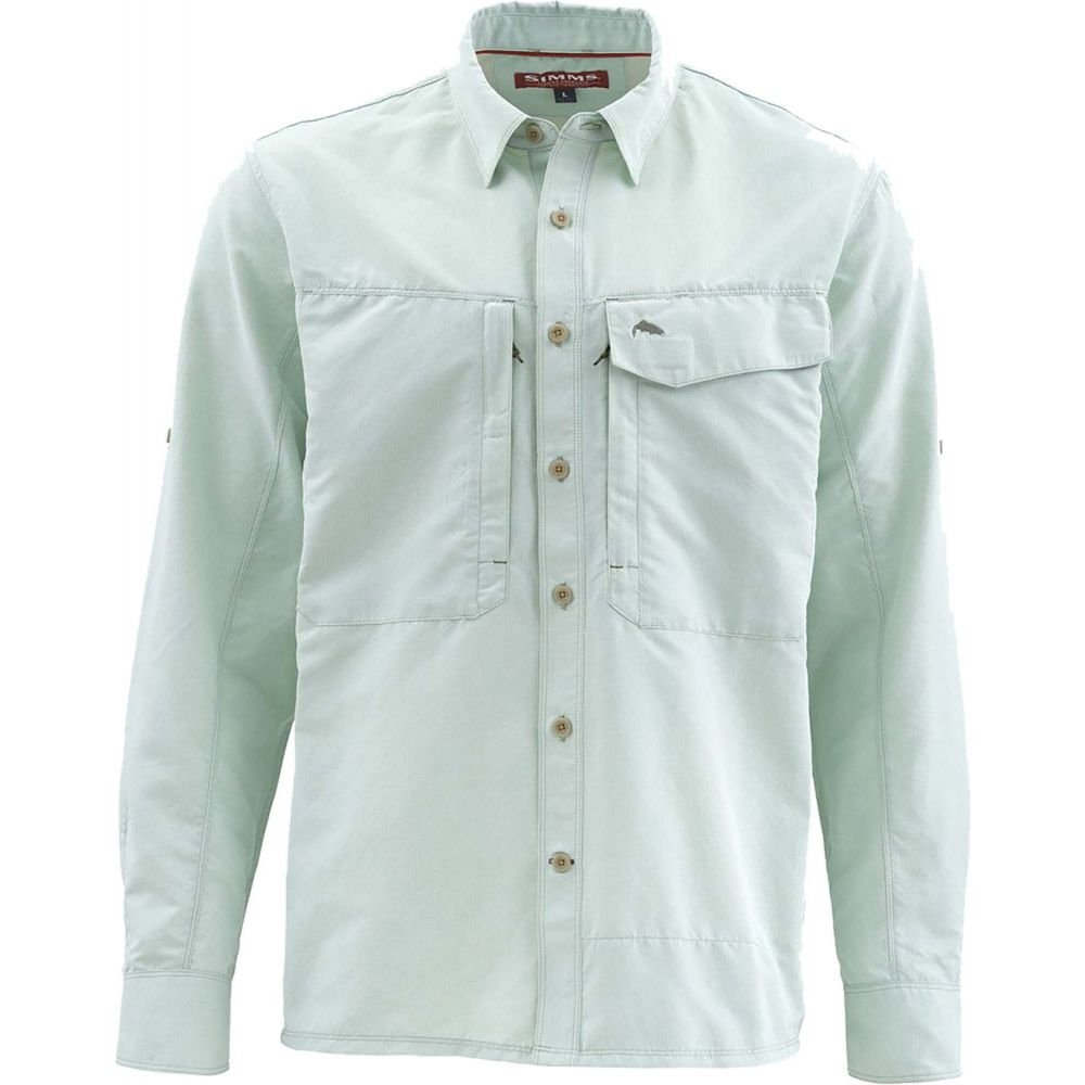 シムズ Simms メンズ シャツ トップス【Guide Marl Long Sleeve Button Down Shirt (Regular and Big & Tall)】Pale Green