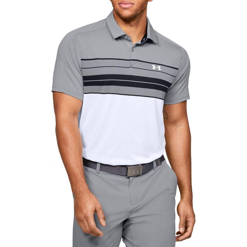 アンダーアーマー Under Armour メンズ ゴルフ ポロシャツ トップス【Vanish Chest Stripe Golf Polo】White