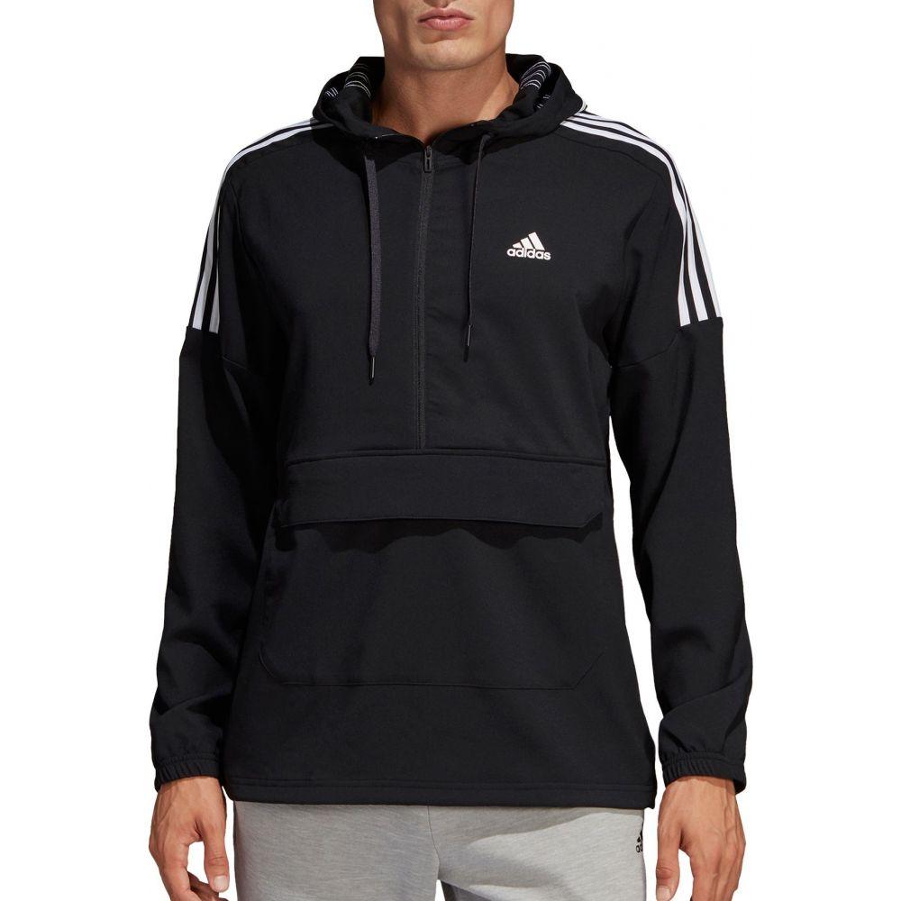アディダス adidas メンズ ジャケット アノラック アウター【3-Stripe SID Anorak Jacket】Black/White