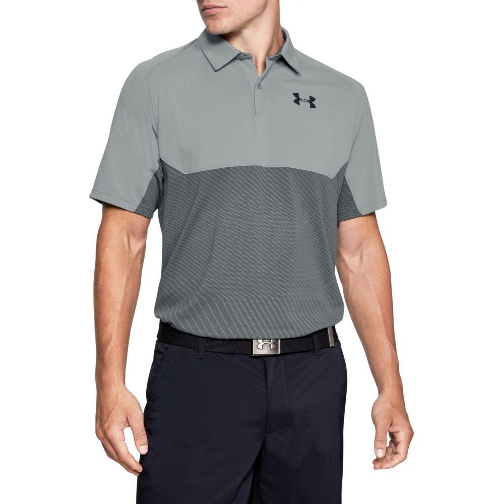 アンダーアーマー Under Armour メンズ ゴルフ ポロシャツ トップス【Tour Tips Blocked Golf Polo】Steel/Pitch Gray/Black