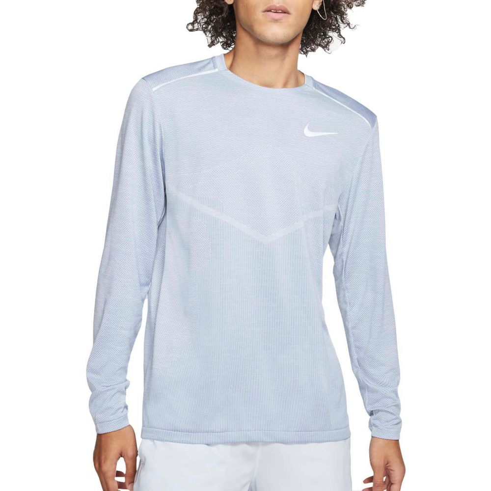 ナイキ Nike メンズ ランニング・ウォーキング トップス【TechKnit Ultra Running Long Sleeve Shirt】Indigo Fog/Reflctv Silver
