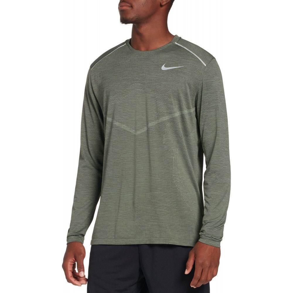 ナイキ Nike メンズ ランニング・ウォーキング トップス【TechKnit Ultra Running Long Sleeve Shirt】Seqia/Jnpr Fg/Rflctv Slv