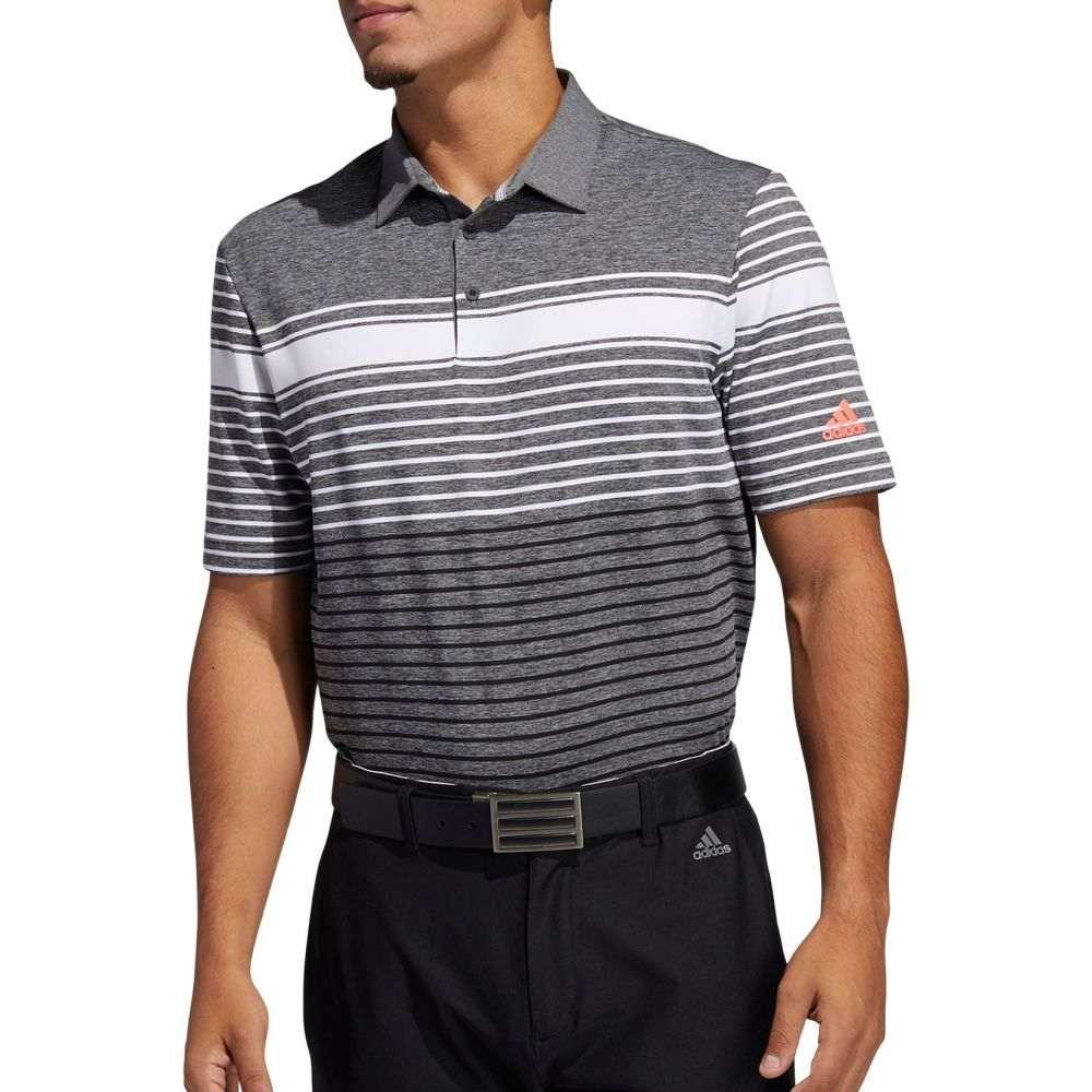 アディダス メンズ ゴルフ トップス 【サイズ交換無料】 アディダス adidas Golf メンズ ゴルフ ポロシャツ トップス【adidas Ultimate365 Engineered Heather Golf Polo】White/Black