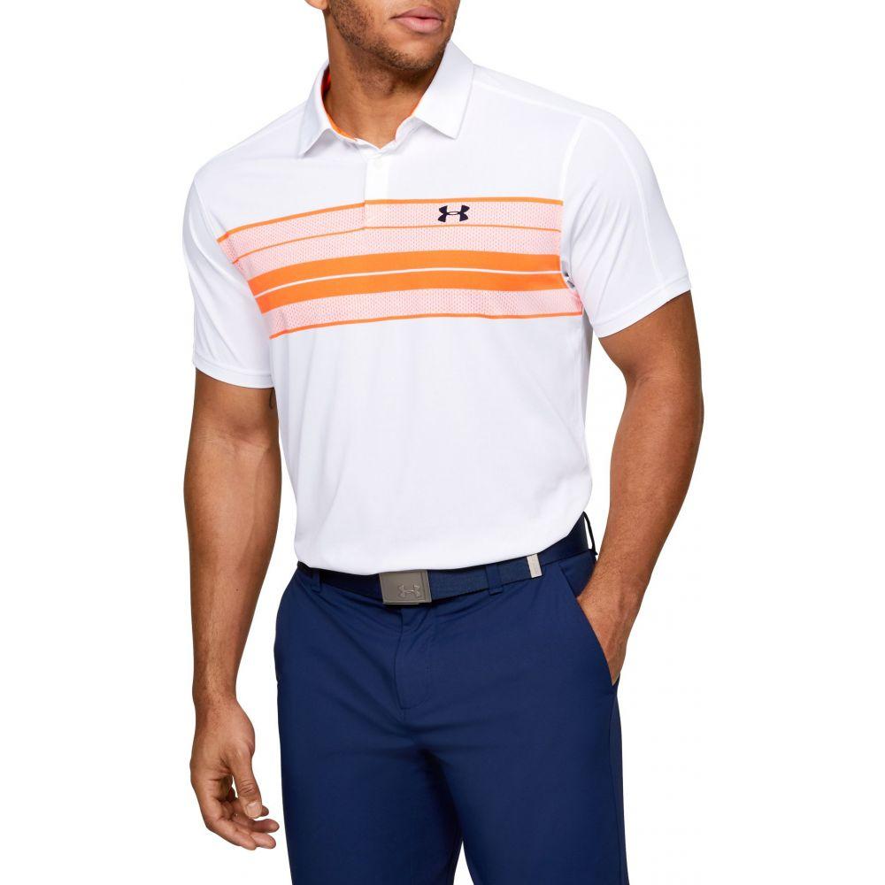 アンダーアーマー Under Armour メンズ ゴルフ ポロシャツ トップス【Vanish Chest Stripe Golf Polo】Academy
