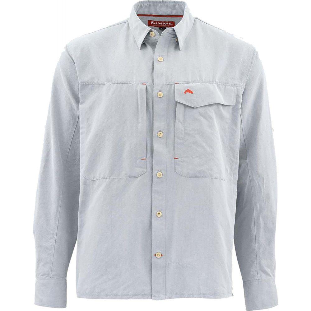 シムズ Simms メンズ シャツ トップス【Guide Marl Long Sleeve Button Down Shirt (Regular and Big & Tall)】Dark Slate