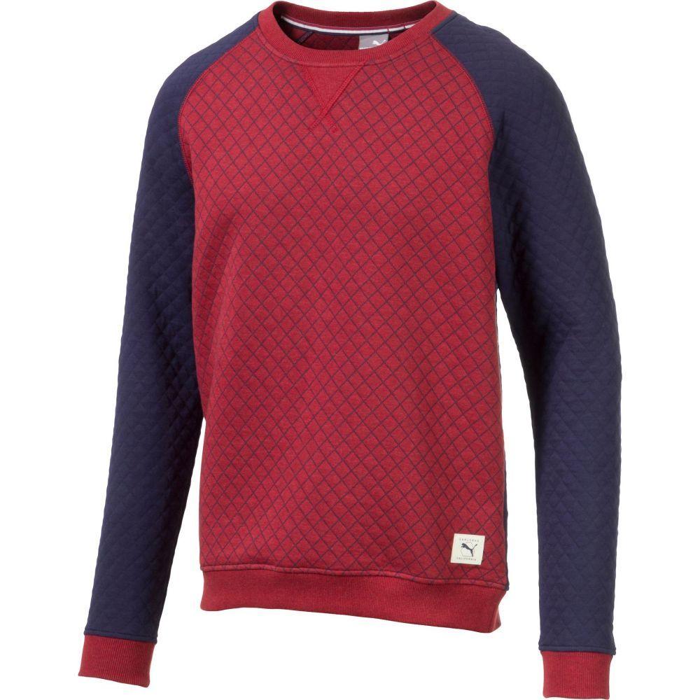 プーマ PUMA メンズ ゴルフ ニット・セーター トップス【Quilted Crew Neck Golf Sweater】Rhubarb Heather
