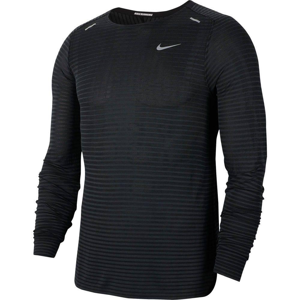 ナイキ Nike メンズ ランニング・ウォーキング トップス【TechKnit Ultra Running Long Sleeve Shirt】Black