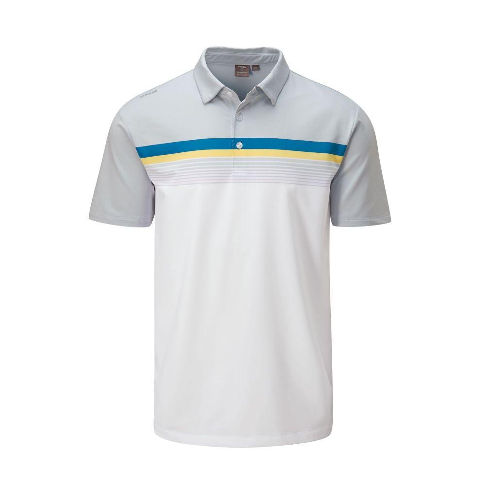 ピング PING メンズ ゴルフ ポロシャツ トップス【Ridge Golf Polo】Pearl Grey