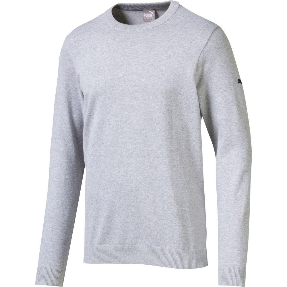 プーマ PUMA メンズ ゴルフ ニット・セーター トップス【Crew Neck Golf Sweater】Quarry Heather