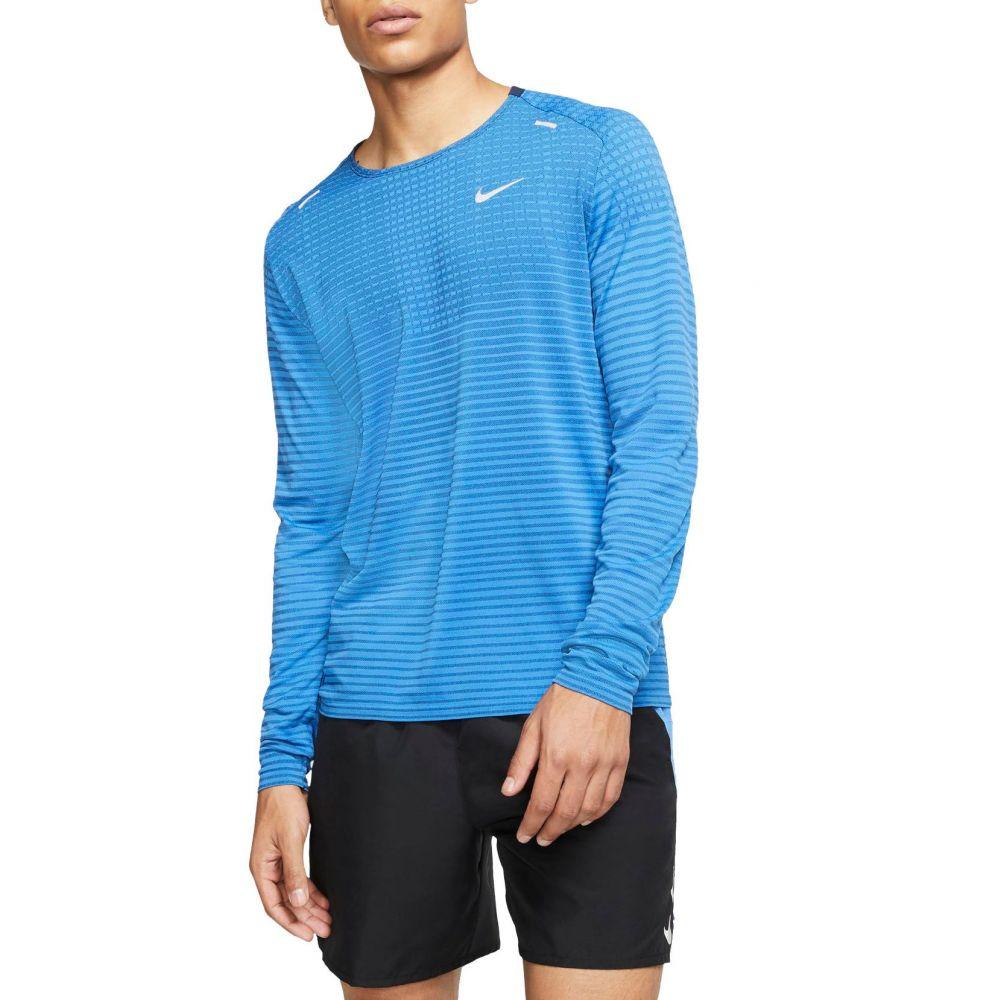 ナイキ Nike メンズ ランニング・ウォーキング トップス【TechKnit Ultra Running Long Sleeve Shirt】Pacific Blue
