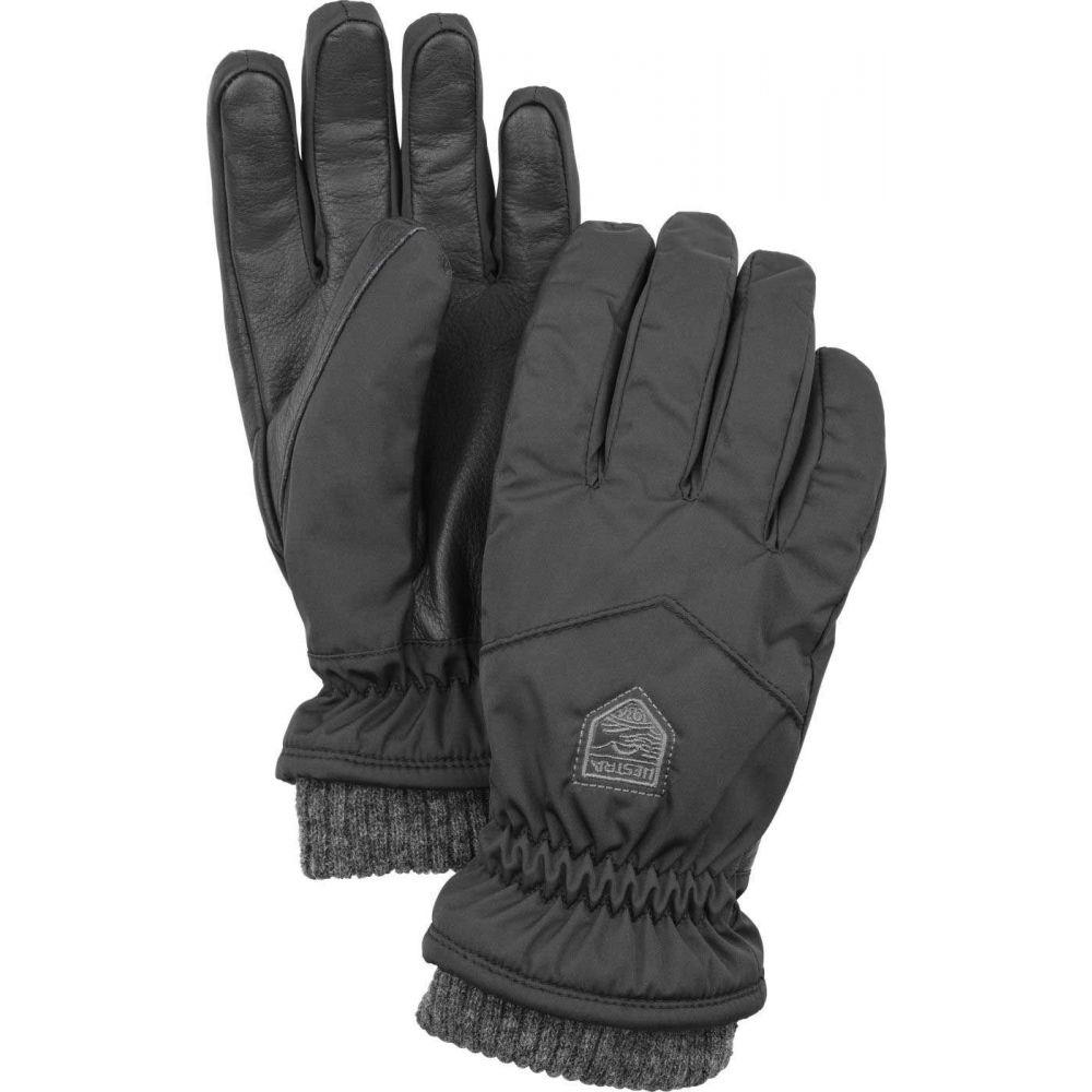 ヘスタ Hestra レディース 手袋・グローブ 【Primaloft Rib Knit 5 Finger Gloves】Black