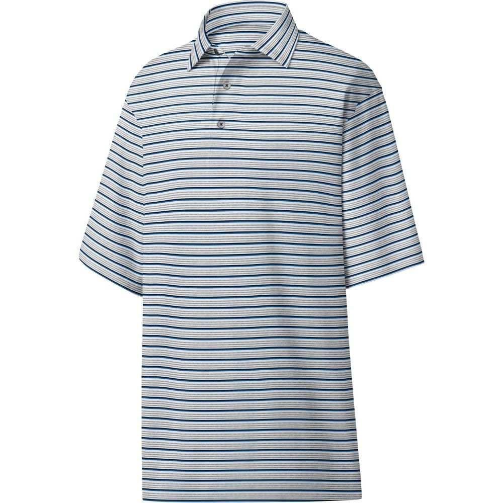 フットジョイ メンズ ゴルフ トップス 【サイズ交換無料】 フットジョイ FootJoy メンズ ゴルフ トップス【Lisle Multi Stripe Golf Polo】Grey/Royal/Black/White