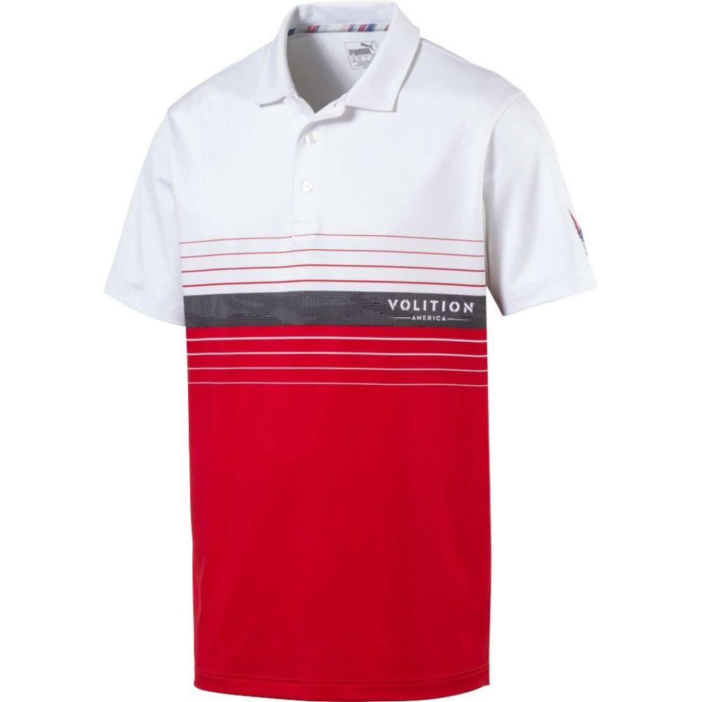 プーマ メンズ ゴルフ トップス 【サイズ交換無料】 プーマ PUMA メンズ ゴルフ ポロシャツ トップス【Volition Horizon Golf Polo】High Risk Red