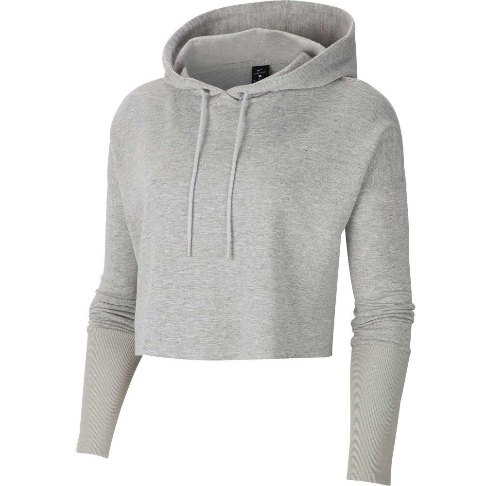 ナイキ Nike レディース フィットネス・トレーニング パーカー トップス【Cropped Luxe Yoga Training Hoodie】Grey Heather