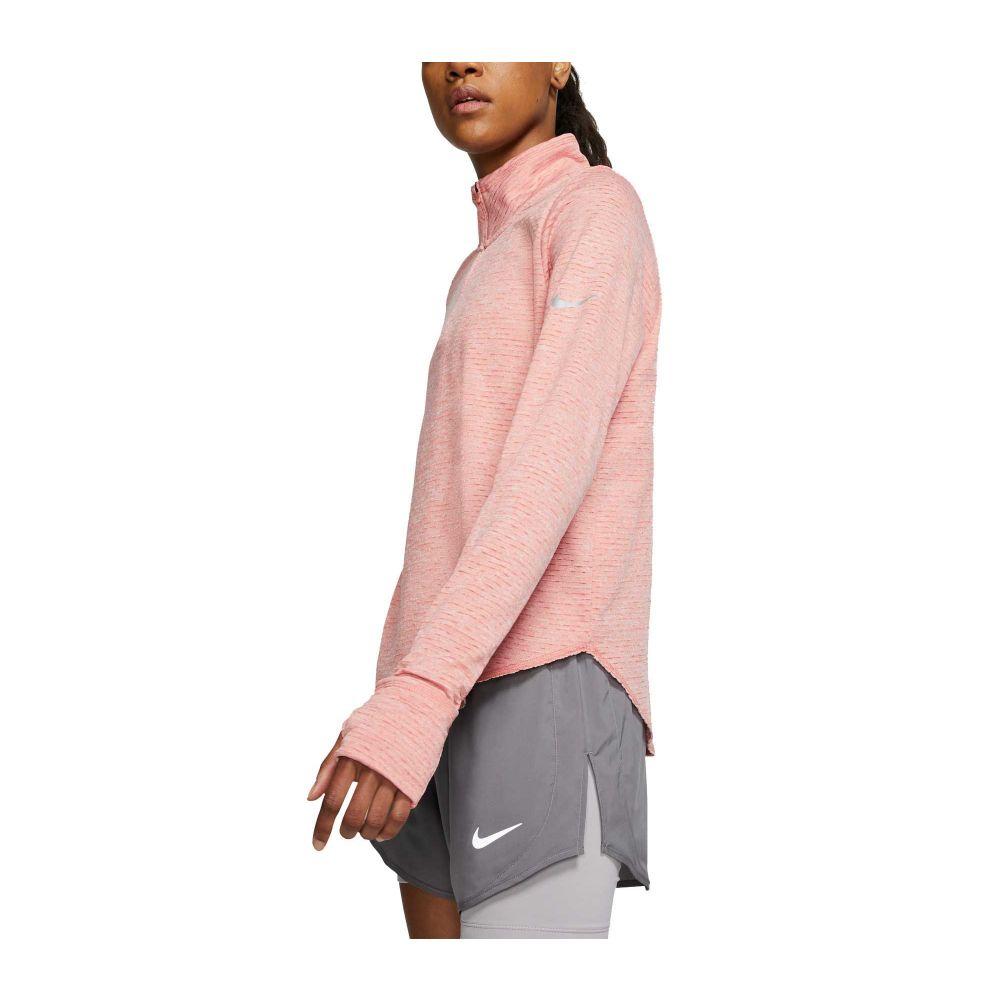 ナイキ Nike レディース ランニング・ウォーキング ハーフジップ トップス【Sphere Element 1/2 Zip Running Long Sleeve Shirt】Pink Quartz