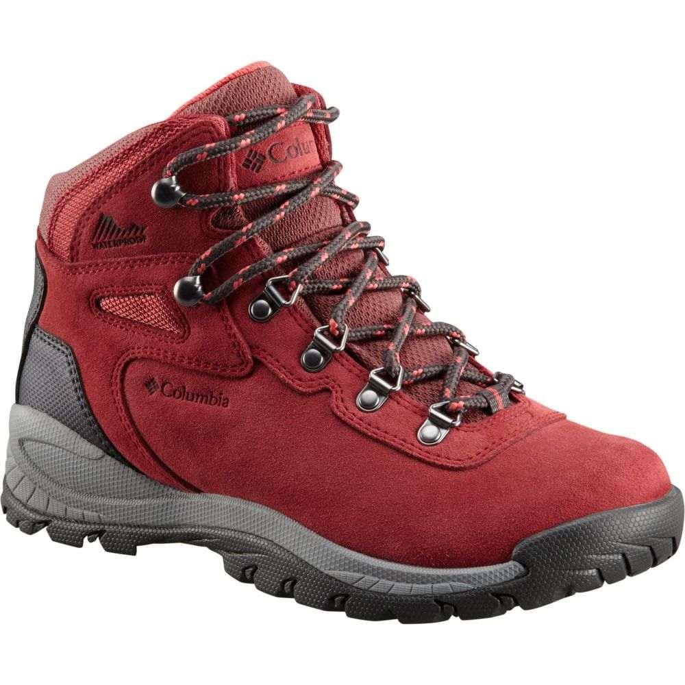 コロンビア Columbia レディース ハイキング・登山 ブーツ シューズ・靴【Newton Ridge Plus Amped Waterproof Hiking Boots】Marsala Red/Sunset Red