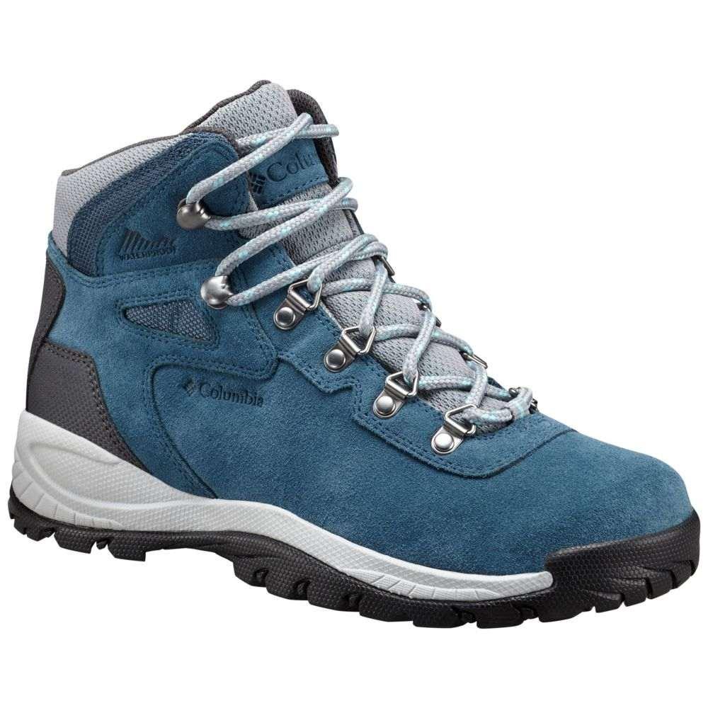 コロンビア Columbia レディース ハイキング・登山 ブーツ シューズ・靴【Newton Ridge Plus Amped Waterproof Hiking Boots】Whale/Iceberg