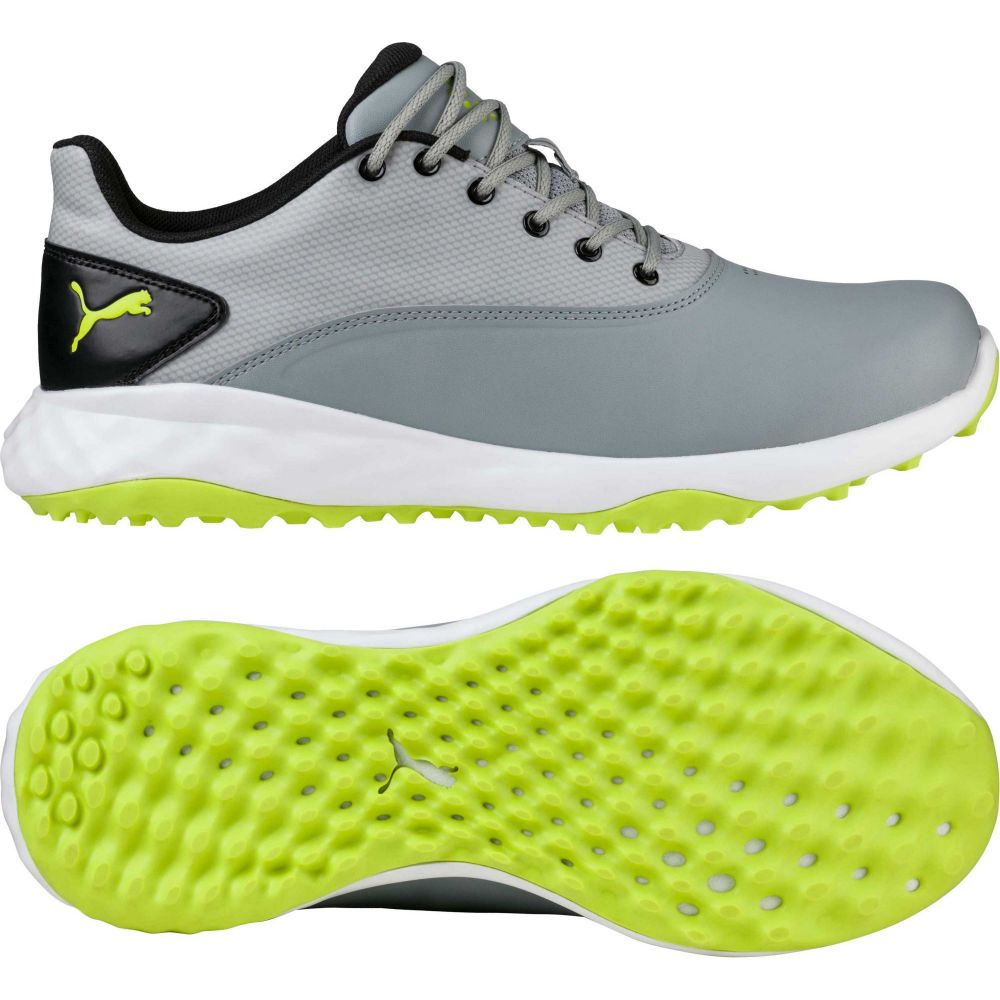 プーマ PUMA メンズ ゴルフ シューズ・靴【GRIP FUSION Golf Shoes】Grey/Lime