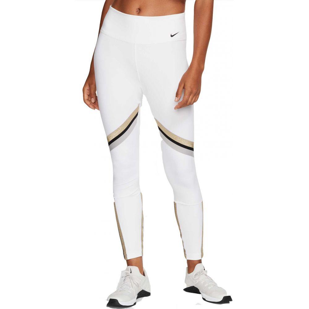 ナイキ Nike レディース フィットネス・トレーニング スパッツ・レギンス ボトムス・パンツ【One Glam Dunk 7/8 Training Tights】White