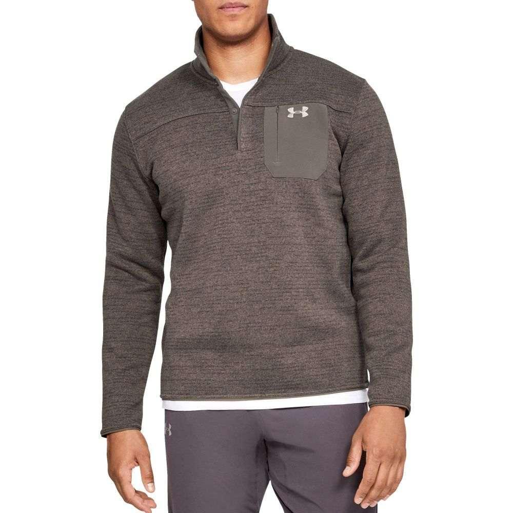 アンダーアーマー Under Armour メンズ 長袖Tシャツ ヘンリーシャツ トップス【Sweaterfleece Henley Long Sleeve Shirt (Regular and Big & Tall)】Maverick Brown