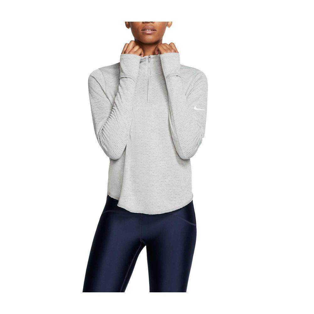 ナイキ Nike レディース ランニング・ウォーキング ハーフジップ トップス【Sphere Element 1/2 Zip Running Long Sleeve Shirt】Particle Grey