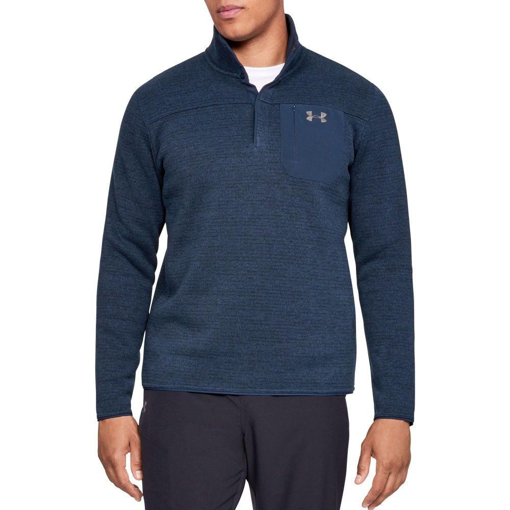 アンダーアーマー Under Armour メンズ 長袖Tシャツ ヘンリーシャツ トップス【Sweaterfleece Henley Long Sleeve Shirt (Regular and Big & Tall)】Academy