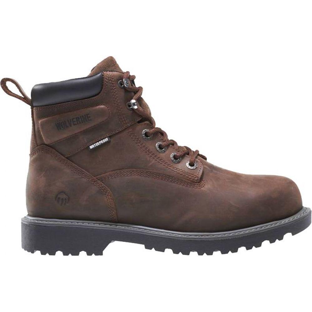 ウルヴァリン Wolverine レディース ブーツ ワークブーツ シューズ・靴【Floorhand 6'' Waterproof Work Boots】Dark Brown