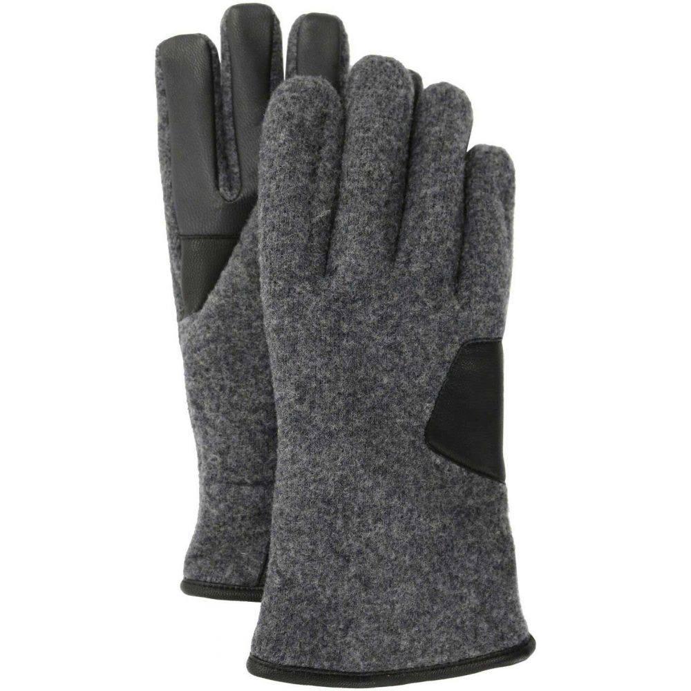 アグ UGG メンズ 手袋・グローブ 【Fabric and Leather Gloves】Charcoal