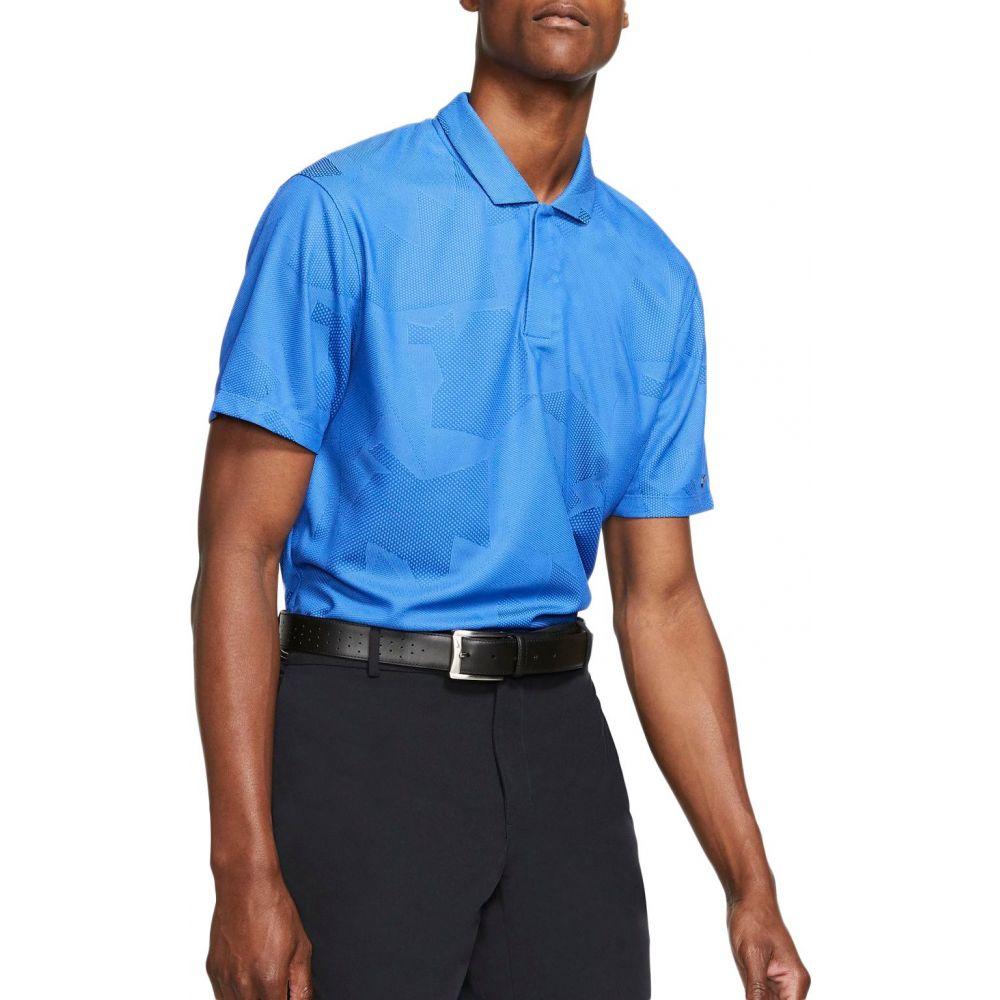 ナイキ Nike メンズ ゴルフ ドライフィット ポロシャツ トップス【Tiger Woods Dri-FIT Camo Golf Polo】Pacific Blue