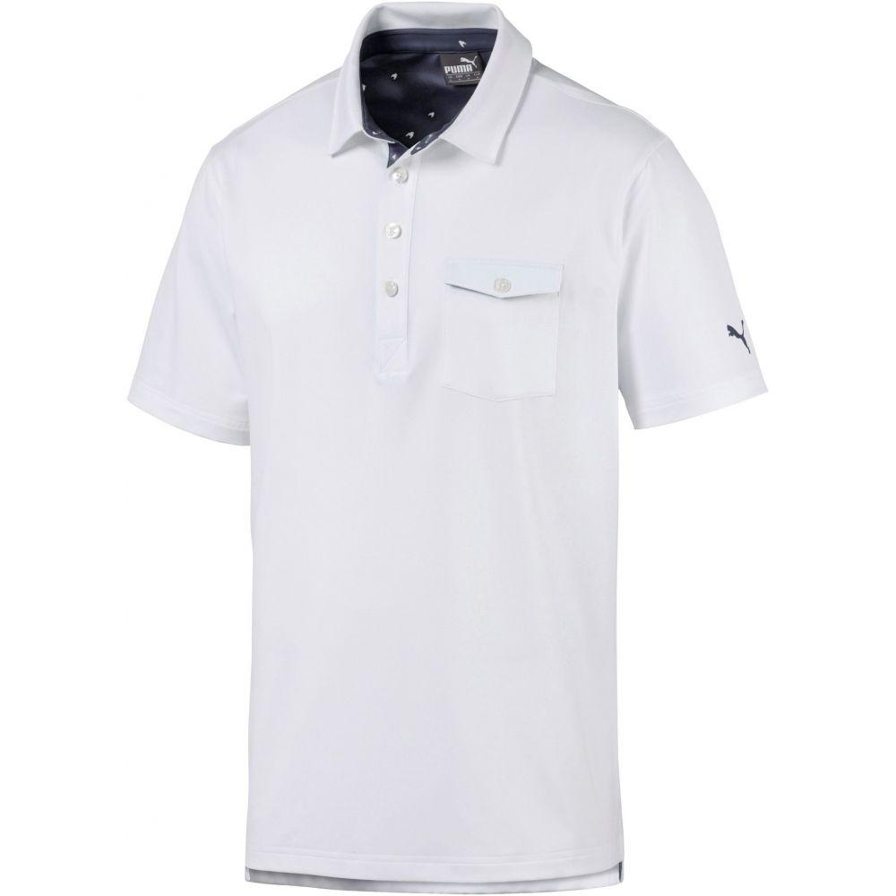 プーマ メンズ ゴルフ トップス 【サイズ交換無料】 プーマ PUMA メンズ ゴルフ ポロシャツ トップス【Donegal Golf Polo】Bright White