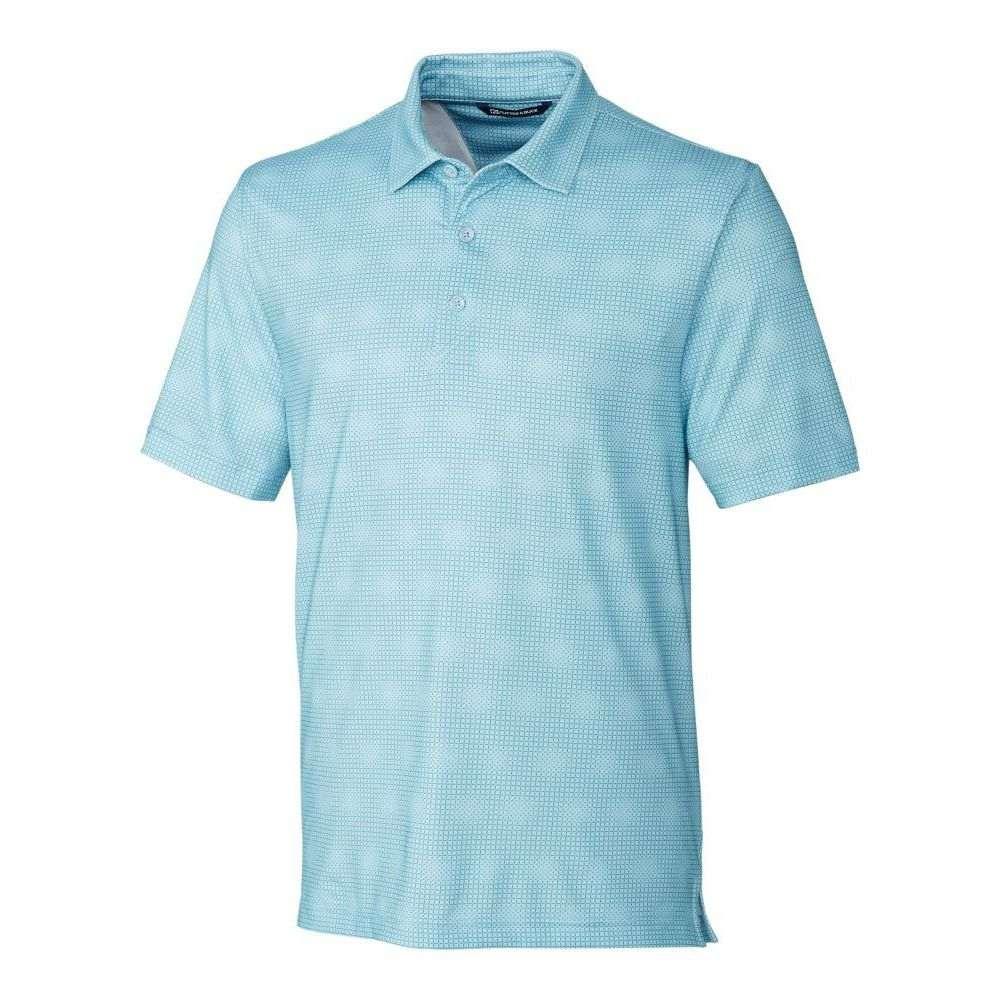 カッターバック メンズ ゴルフ トップス 【サイズ交換無料】 カッターバック Cutter  Buck メンズ ゴルフ ポロシャツ トップス【Pike Geo Grid Golf Polo】Serene