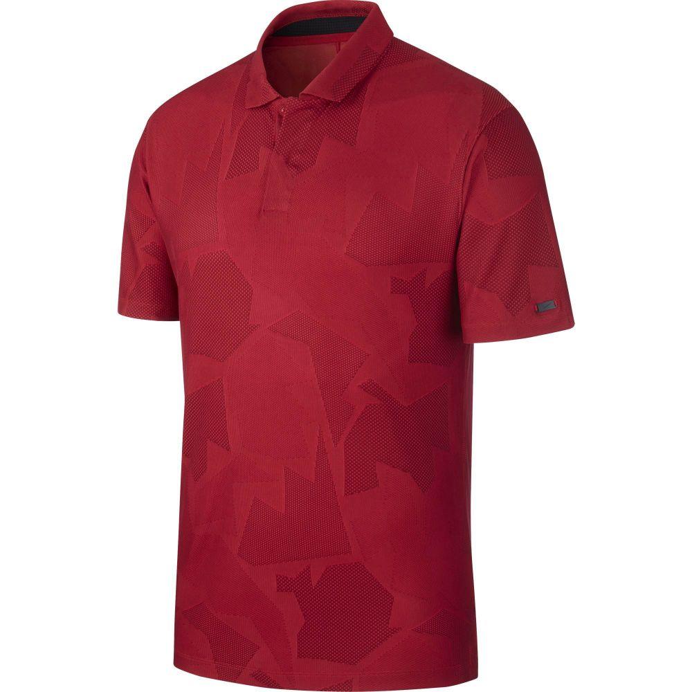 ナイキ Nike メンズ ゴルフ ドライフィット ポロシャツ トップス【Tiger Woods Dri-FIT Camo Golf Polo】Gym Red