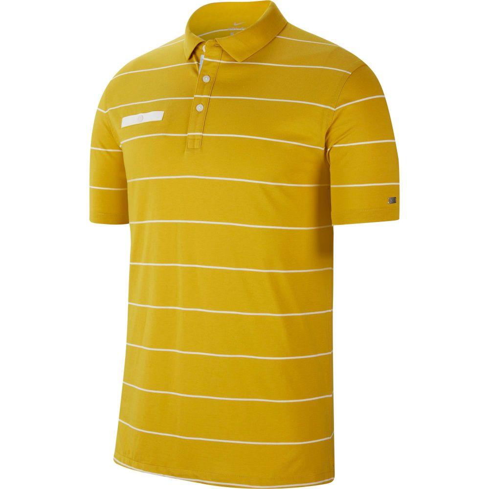 ナイキ Nike メンズ ゴルフ ポロシャツ トップス【Stripe Player Golf Polo】Saffron Quartz